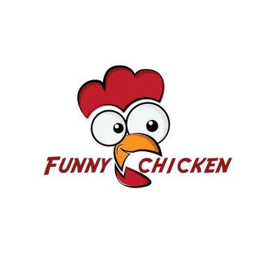 funny chicken illustration
