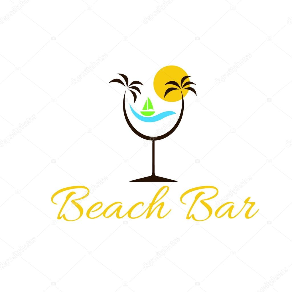 beach bar illustration