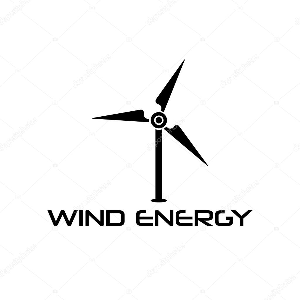 Wind turbine vector design template
