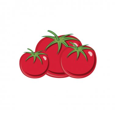 red ripe tomatoes vector illustration isolated on white backgrou