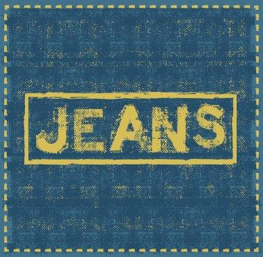 jeans grunge background vector design template