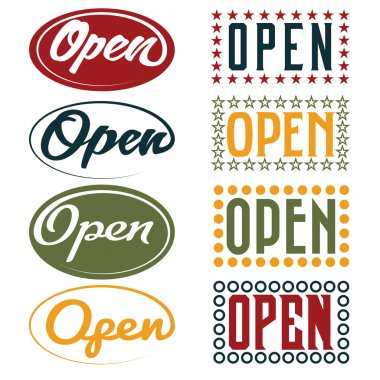 Open Sign retro collection