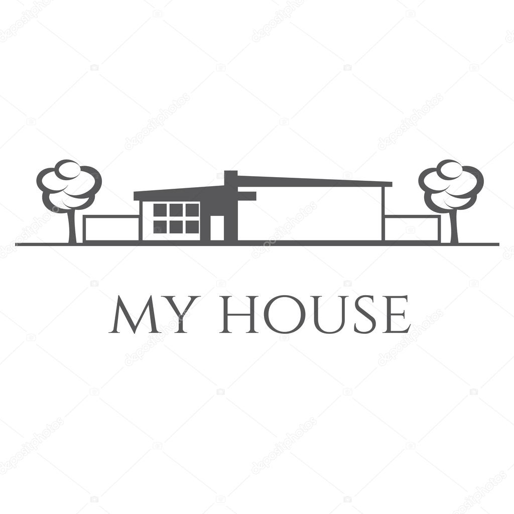 Illustration of house. Vector