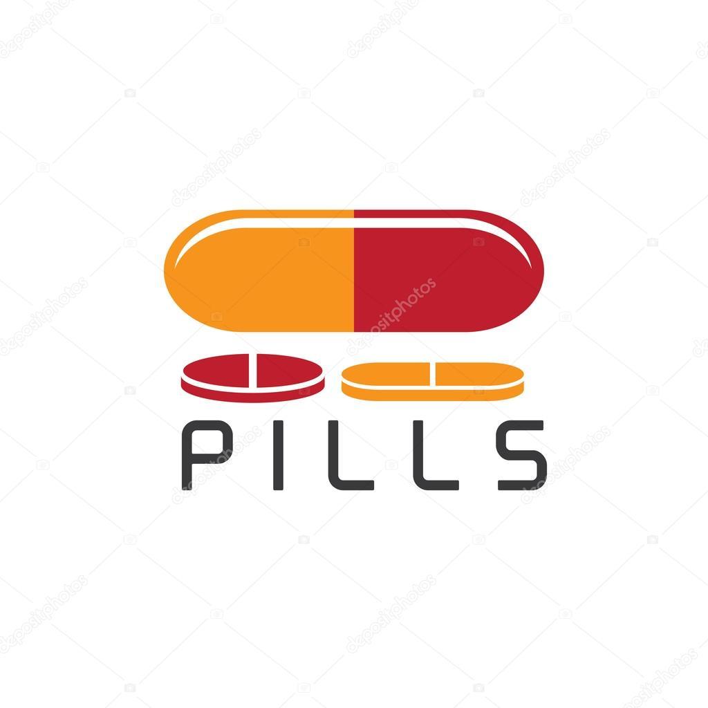 plantilla de diseño de vectores de píldoras — Vector de stock ...