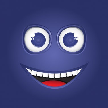 Illustration funny smile. Vector
