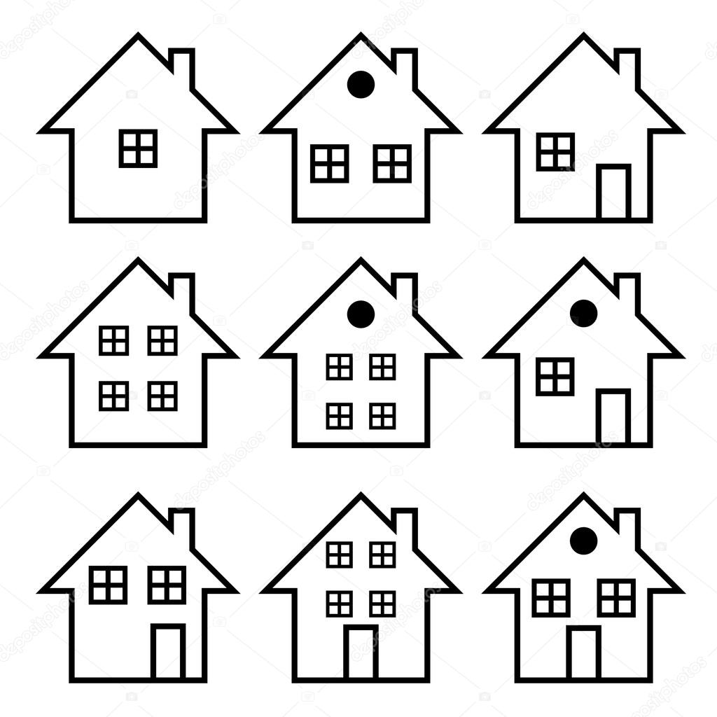 Illustration set of houses .Vector