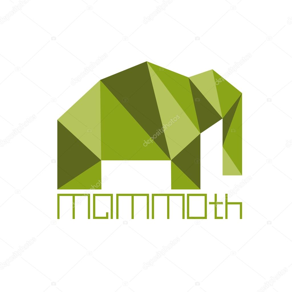 mammoth in polygon style