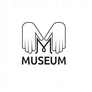 museum monogram with hands