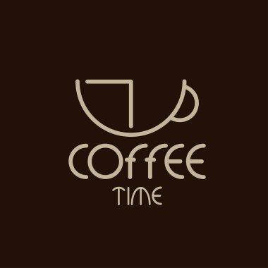 coffee time concept vector design template