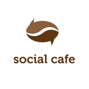 Illustration concept of bubble in coffee bean shape. vector