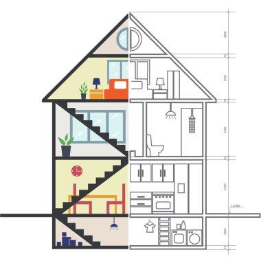 Renovation .House remodeling,flat design .Vector