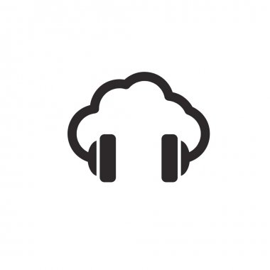 cloud music vector concept icon