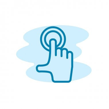 Illustration Vector graphic of touch screen icon template icon