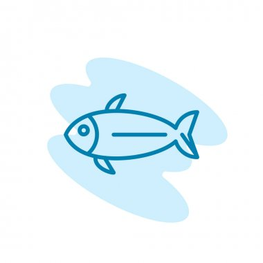 Illustration Vector graphic of fish icon template icon