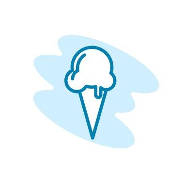 Illustration Vector graphic of ice cream icon template icon