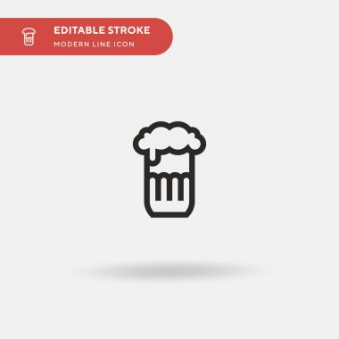 Beer Simple vector icon. Illustration symbol design template for web mobile UI element. Perfect color modern pictogram on editable stroke. Beer icons for your business project icon