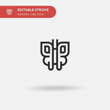 Butterfly Simple vector icon. Illustration symbol design template for web mobile UI element. Perfect color modern pictogram on editable stroke. Butterfly icons for your business project icon