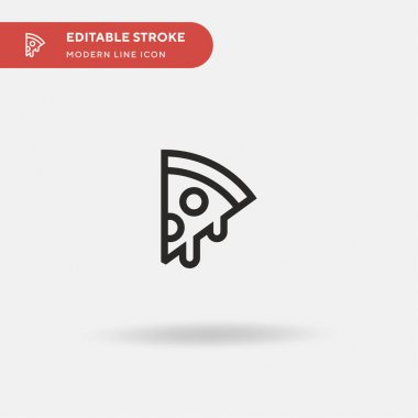 Pizza Simple vector icon. Illustration symbol design template for web mobile UI element. Perfect color modern pictogram on editable stroke. Pizza icons for your business project icon