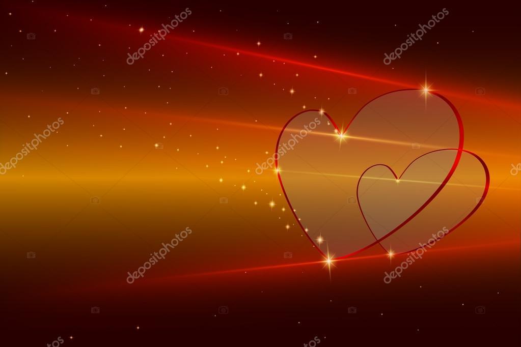 Fond Décran De Coeur Multicolore Image Vectorielle