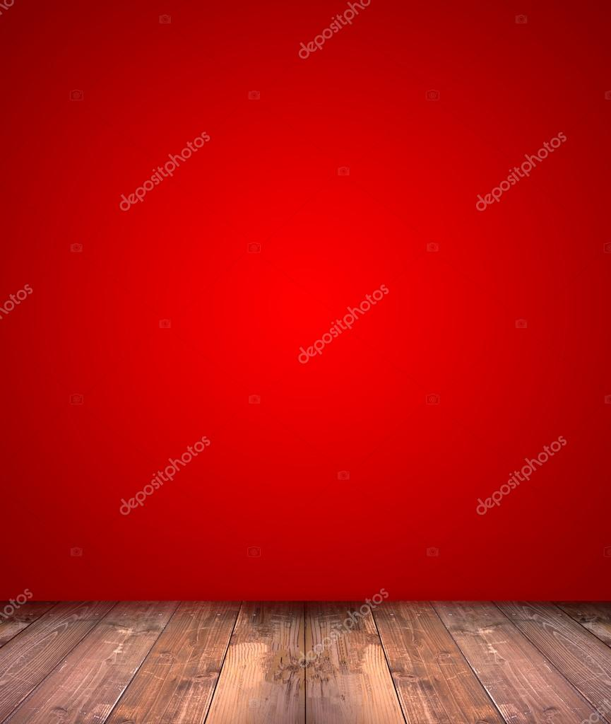 abstract red background with wood floor
