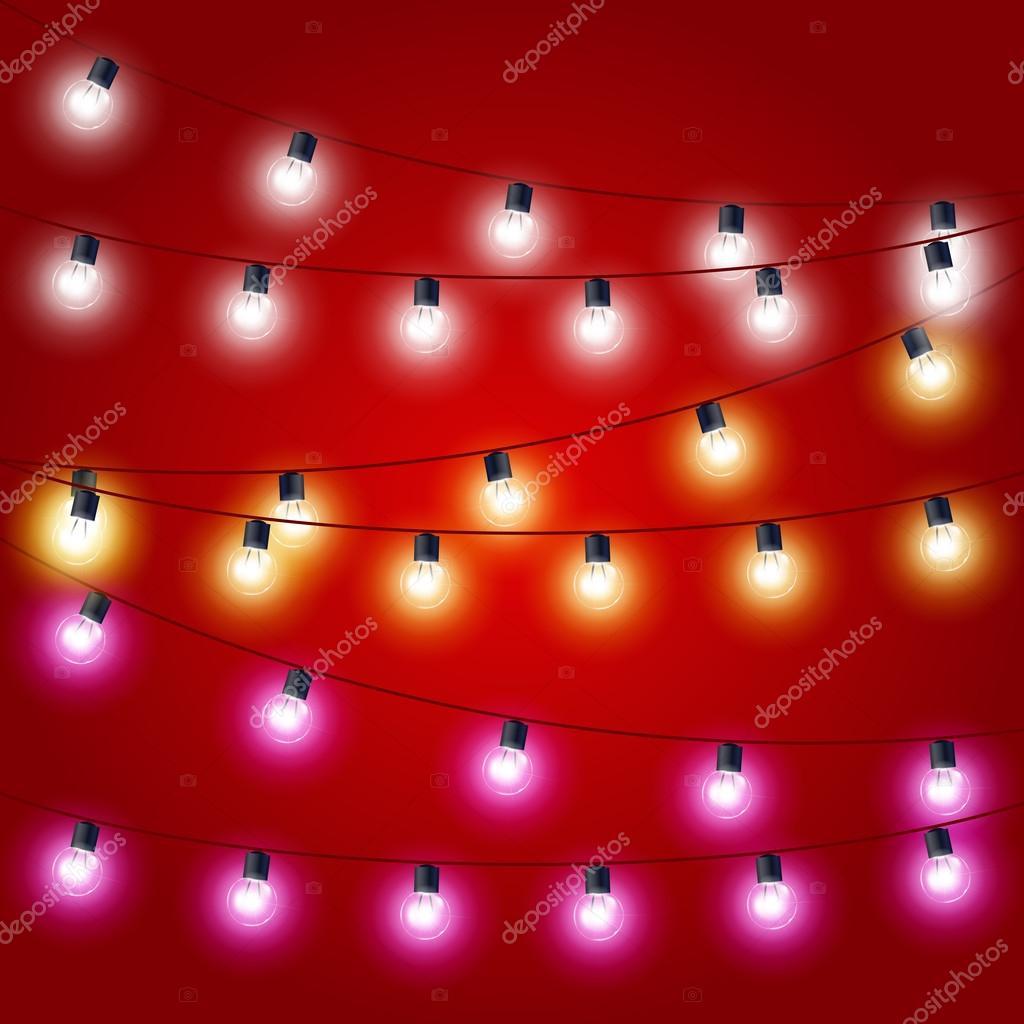 クリスマス ライト カーニバルの装飾のつなぎたるみ ストック
