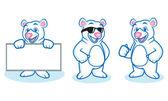 Fotografie Polar Bear Mascot happy