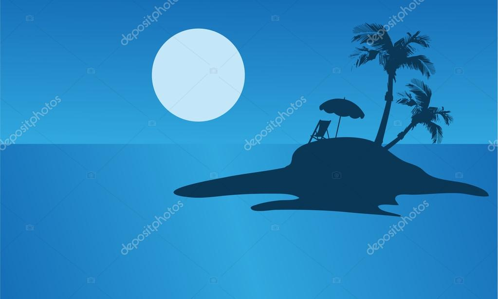 Beautiful islands silhouette for summer holiday