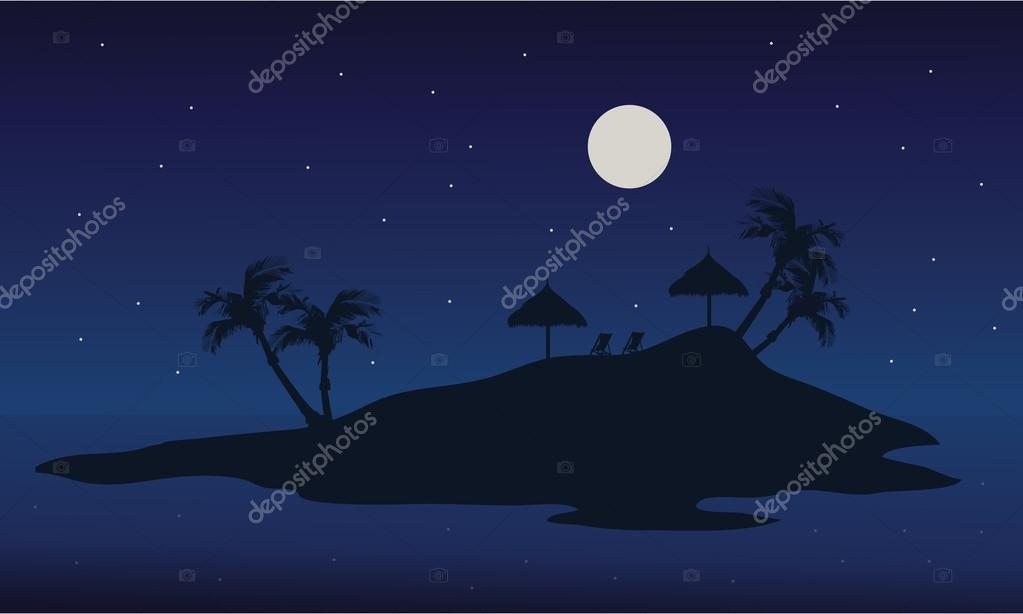 At night islands scenery summer backgrounds