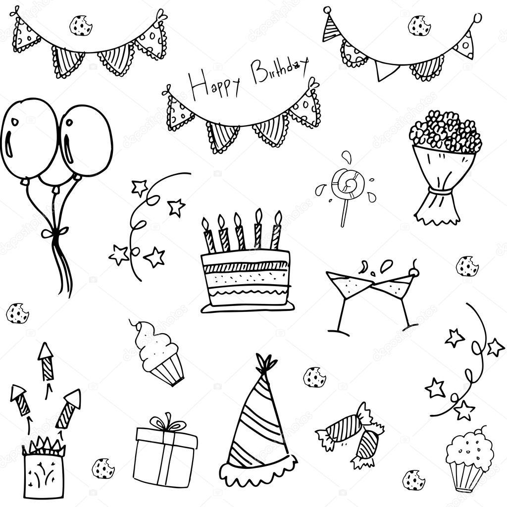 рисовать картинки с днём рождения