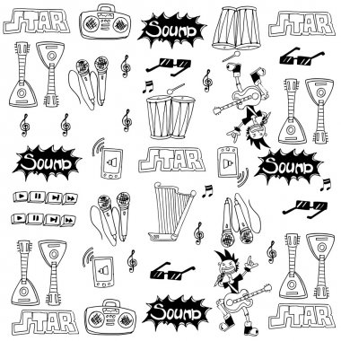 Doodle of musical tools