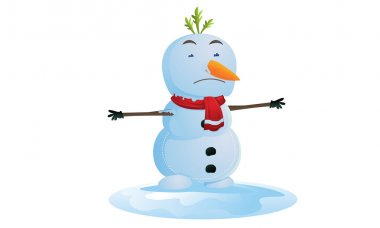 Melting snowman in Christmas