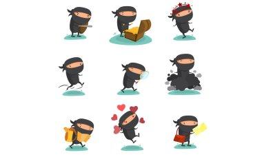 Ninja Mascot set 4