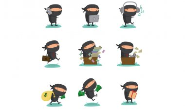 Ninja Mascot set 3