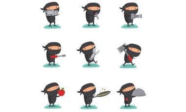 Ninja Mascot Set 7