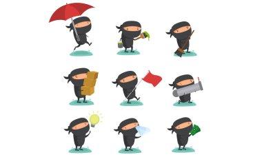 Ninja Mascot Set 8