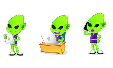 Alien Mascot 3