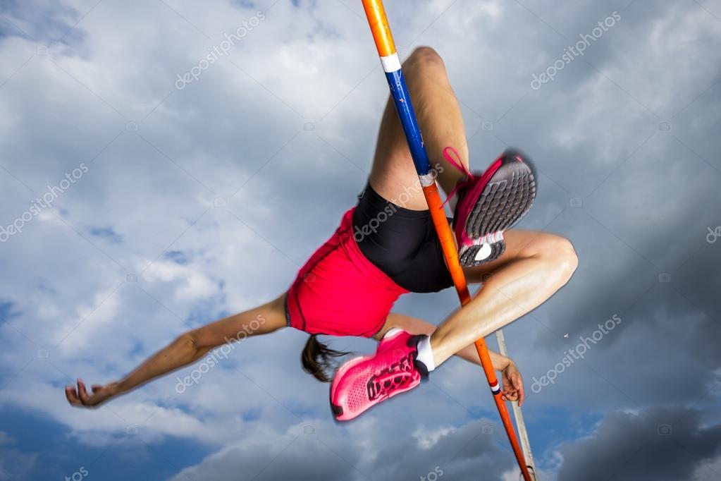 Hochspringerin in der Leichtathletik