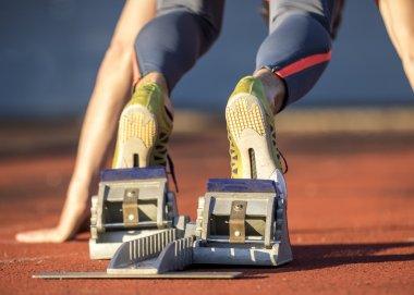 Sprintstart in der Leichtathletik