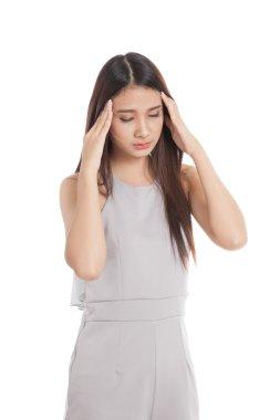 Young Asian woman got sick and headache