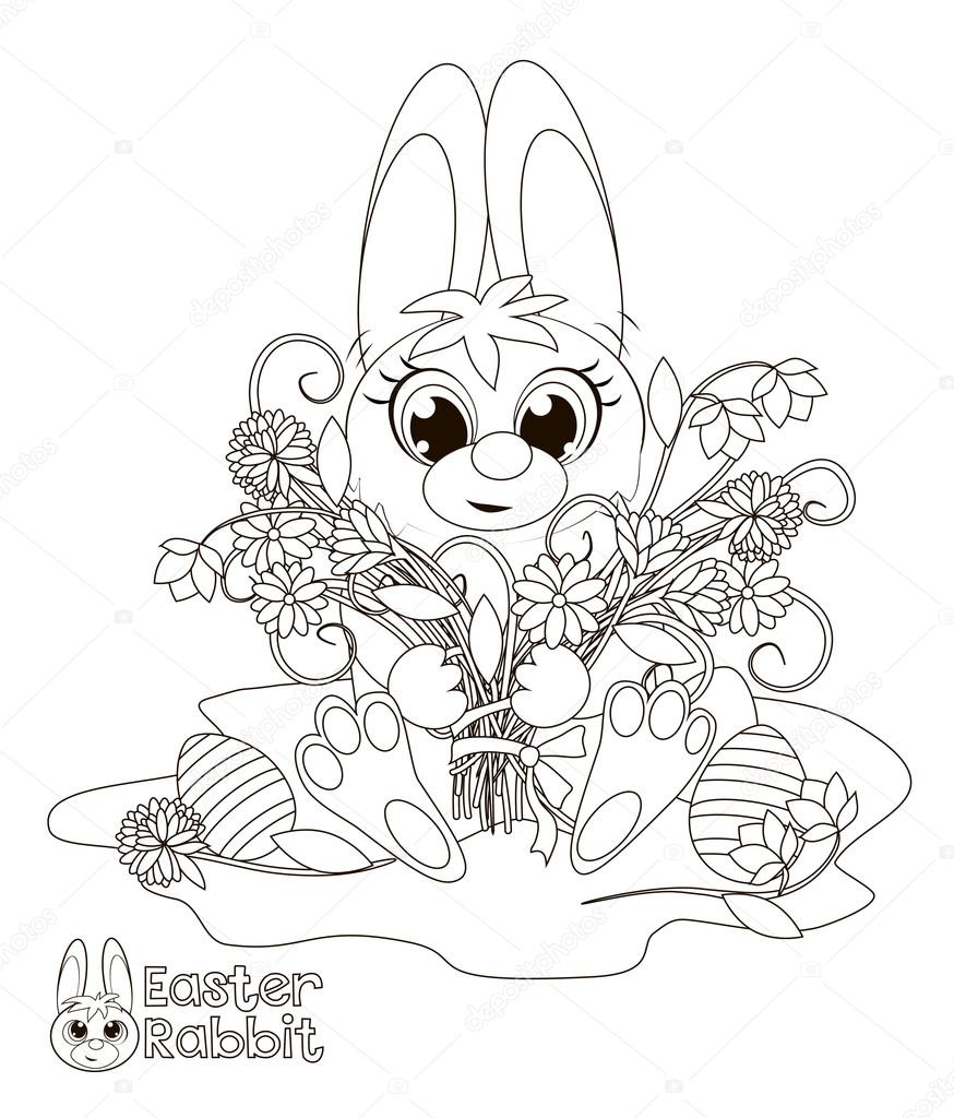 Little Easter Bunny Coloring Book Stock Vector 67675851