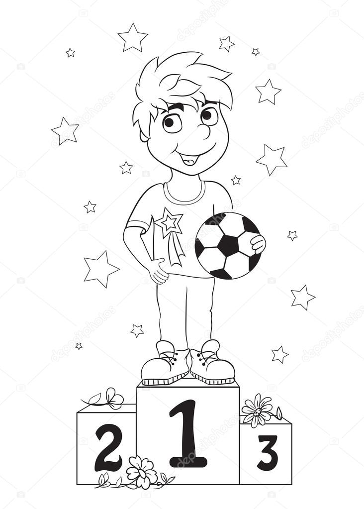 Niños ganadores para colorear | Campeón del muchacho. Libro de ...