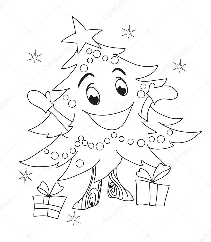 carácter de árbol de Navidad — Archivo Imágenes Vectoriales ...