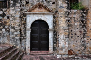 Antique Church Door in La Aduana, Mexico