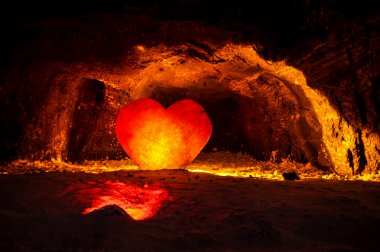 Sculpted Heart in Nemocon Salt Mines, Colombia