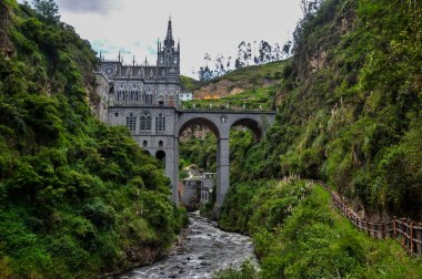 Las Lajas Church in South of Colombia