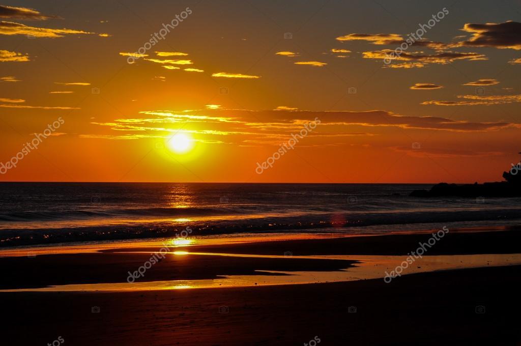 Beautiful sunsets of Playa El Zonte, El Salvador