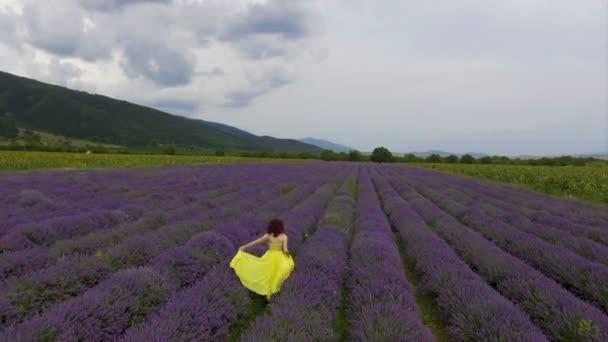 Dívka v lavendre poli