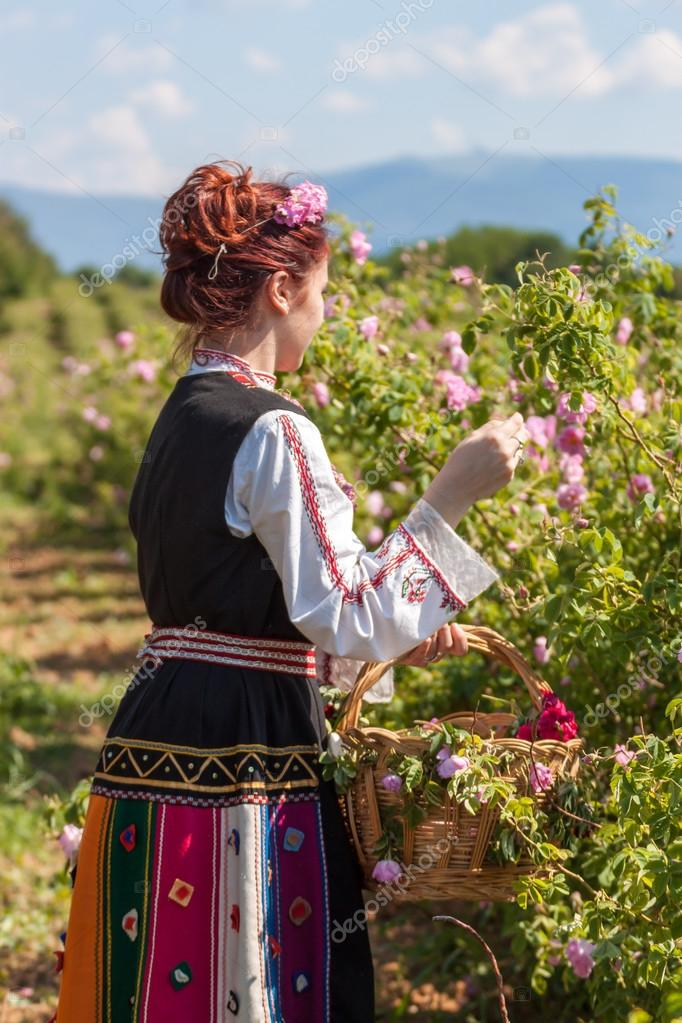 Girl posing during the Rose picking festival in Bulgaria