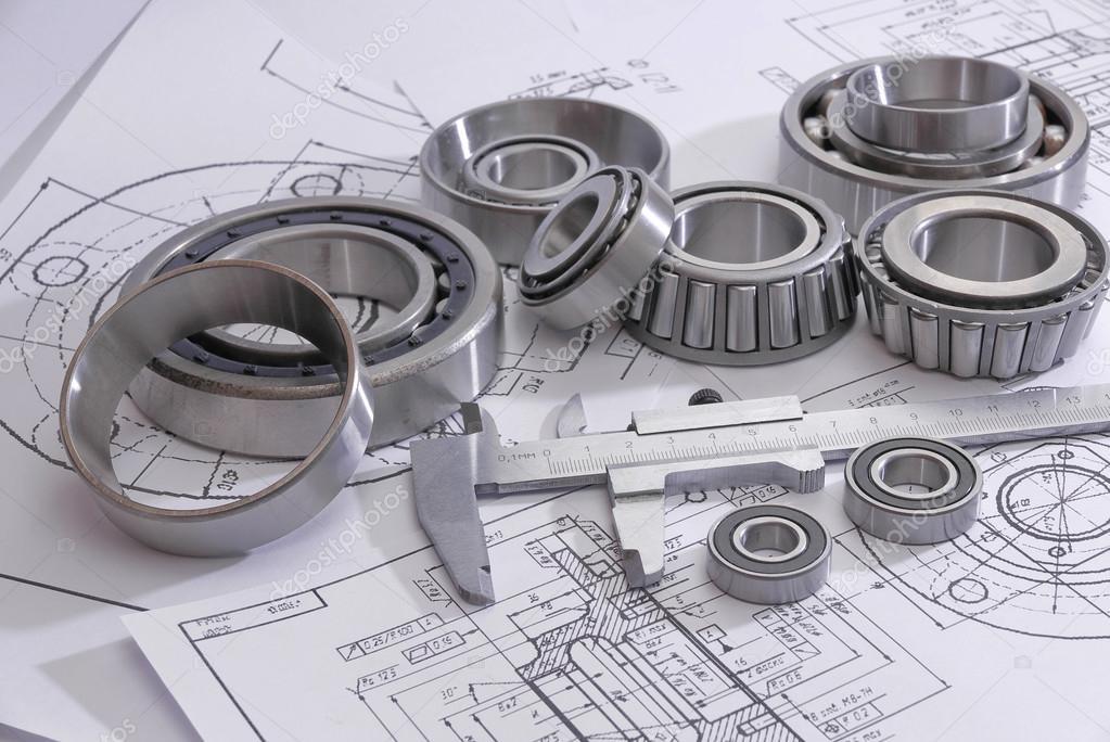 bearings and many drawings