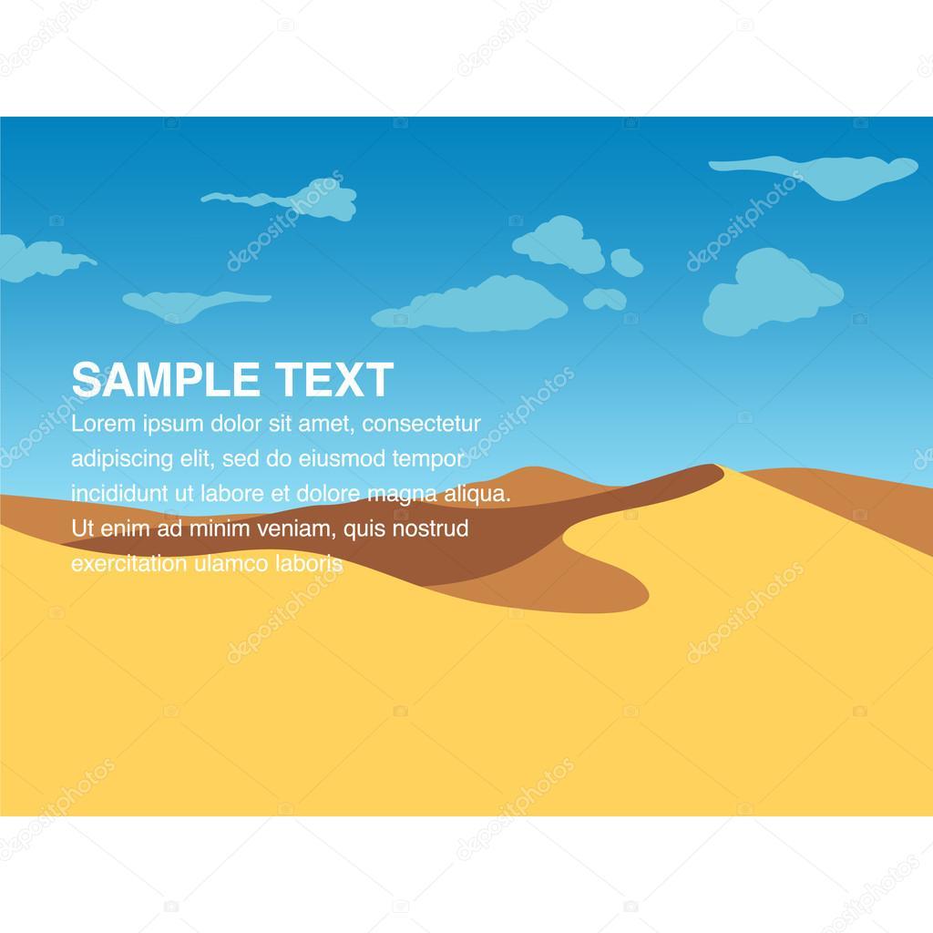 Landscape illustration of yellow sand dunes
